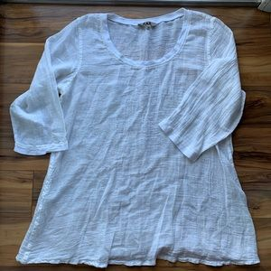 Flax Life is a choice linen blend blouse M